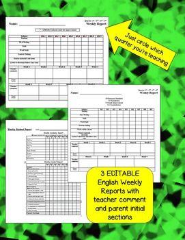 Friday Folder Packet - EDITABLE - English and Bilingual (E