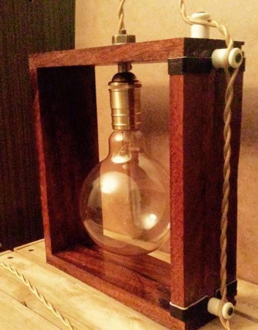 настольная ретро лампа
