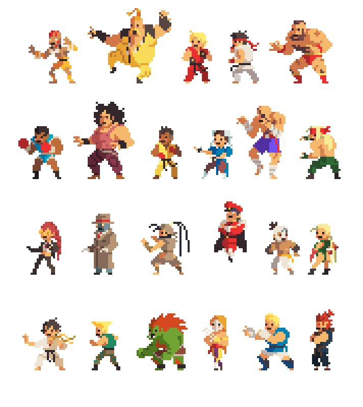 VIXELS love it street fighters characters