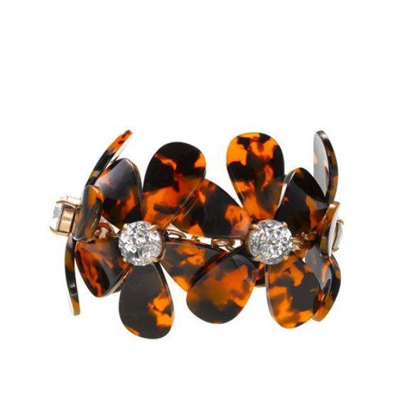 Tortoise flower bracelet Tortoise flower bib by shop2lopez on Etsy