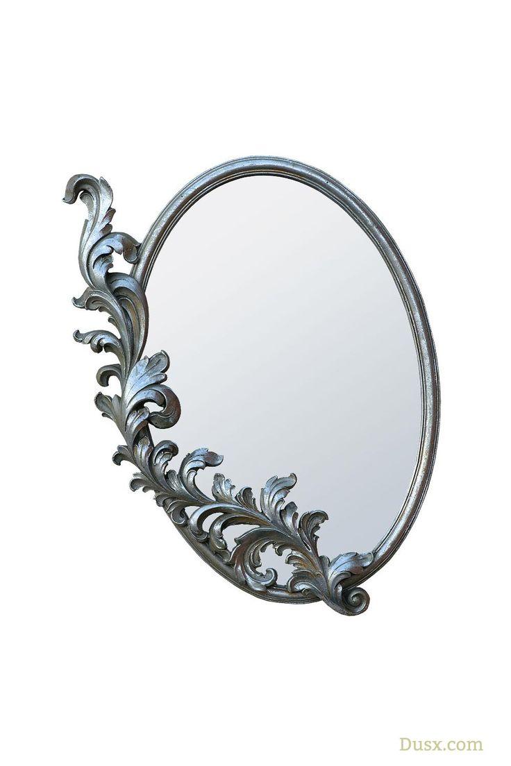 Rococo Antique Style Art Nouveau Silver Decorative Wall Bedroom Mirror: Sales Price £38.00