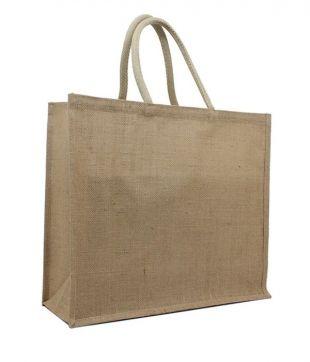 Eco draagtas jute Medium: 40x15x30cm - Onze Tassen - Tassen.nl  - Klasse in bedrukte tassen en onbedrukte tassen! (TIP)