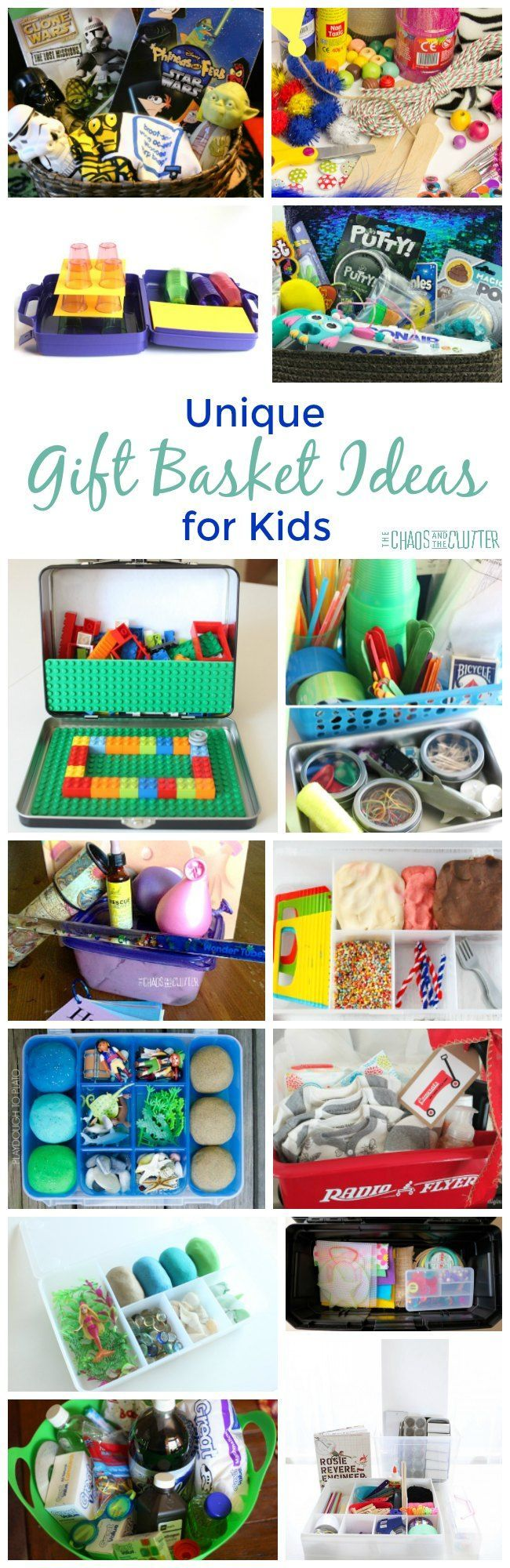 These unique gift basket ideas for kids are perfect for birthday gifts or for a Christmas surprise.