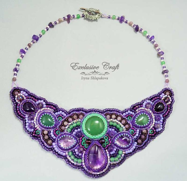 Unique handmade purple Amethyst necklace, Amethyst handmade accessory – Exclusive Craft