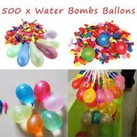 Wish | SHIP FROM USA  500Pcs Water Bombs Balloons Mixed Colorful Children Kids Party Sand Game Toys