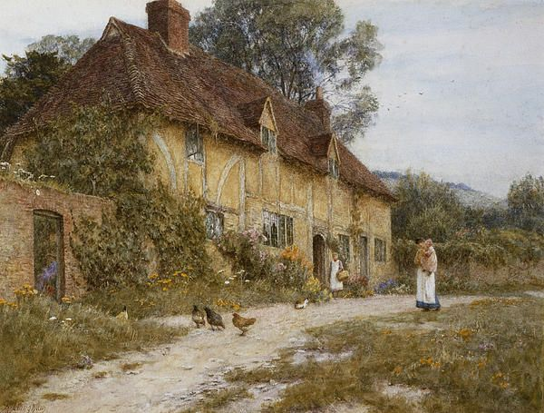 Old Kentish Cottage Helen Allingham English