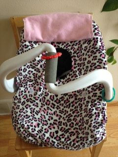 Pink Cheetah Baby Car Seat Cover by ohbabysboutique on Etsy, $27.50