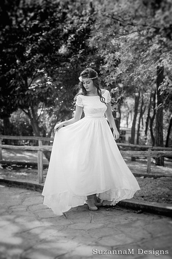 Cream  Ivory 50s Wedding Dress Full Skirt by SuzannaMDesigns