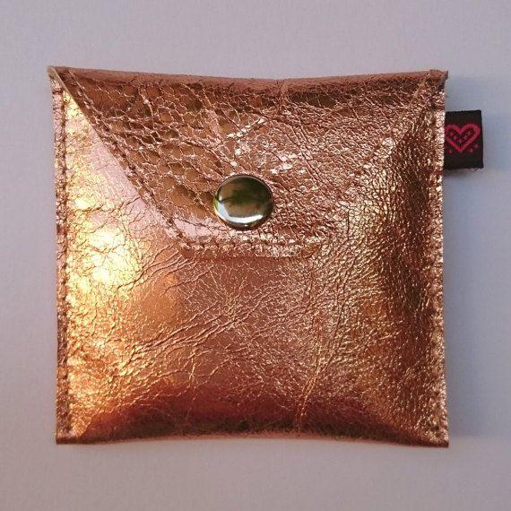 SALE KDDLE  metallic Copper Genuine Leather Buddy  Condom by KDDLE