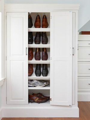 Better Homes and Gardens | Our Favorite Walk-In Closet Designs | Shoe Cabinet {slide 12 of 17}