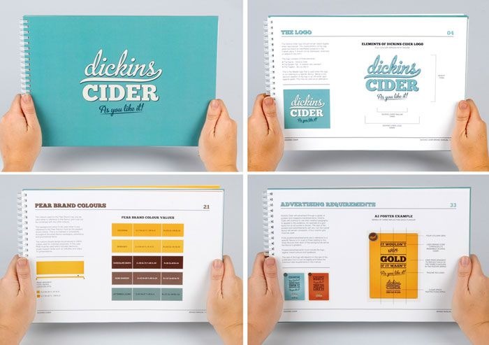 || dickins cider :: via the dielineStudent Spotlight Dickins, Brand Guidelines, 9 7 12 Dickins7 Jpg, Brand Book, Graphic Standards Manual, Spotlight Dickins Cider, Guidelines Booklet, Brand Manual, Graphics Standards