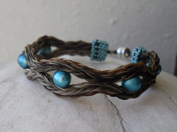 Cowgirl Couture horse hair braided bracelet by TrickHorseCouture