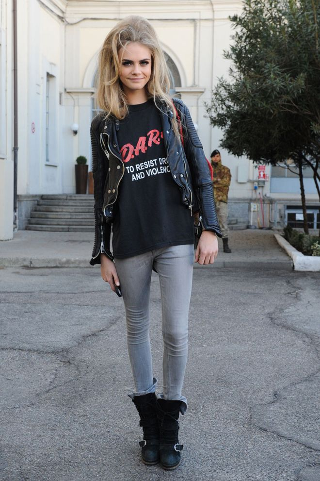 grunge style love those DARE tshirts! i did that class back in elementary school!