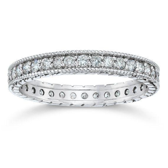 Diamond Eternity Ring Stackable Diamond 5/8CT Vintage by Pompeii3