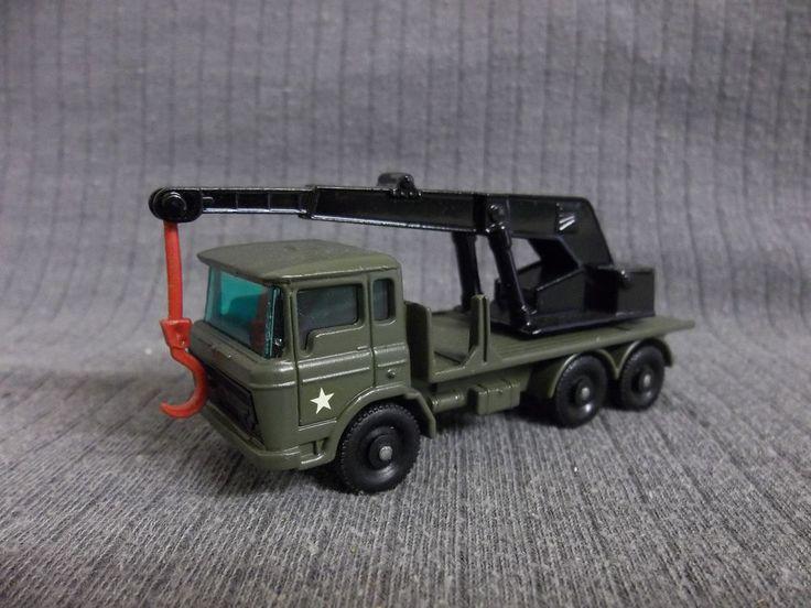 Matchbox  Lesney models DAF Army Crane Lorry Code 3