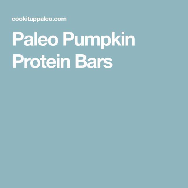 Paleo Pumpkin Protein Bars