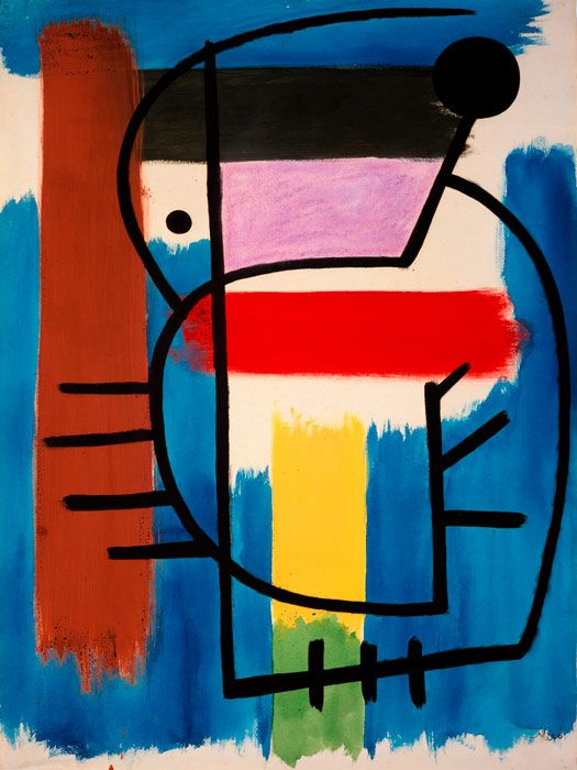 Joan Miró - Seated Woman, 1931, oil on paper, 63 x 46 cm One of my fave paintings of Miro :-)