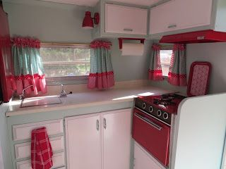 Vintage Travel Trailer Interiors | Here are some pictures of all we have accomplished. If you want to see ...