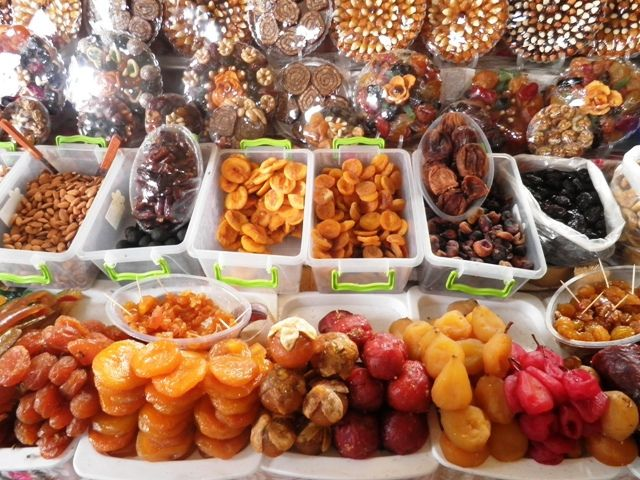 Dried fruit market, Yerevan, Armenia.