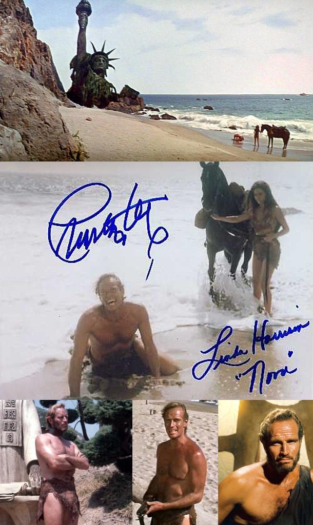 Charlton Heston & Linda Harrison in Planet of the Apes (1968)