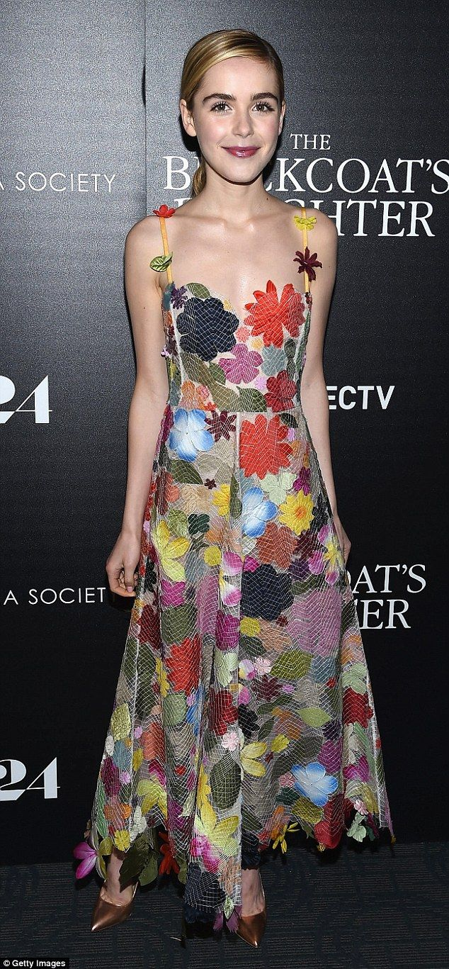 Star: Kiernan Shipka proved once again she's all grown up as she rocked a stunning gown in...