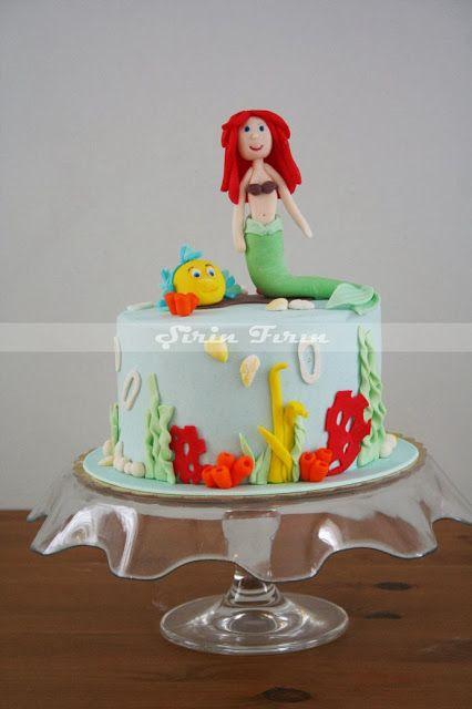 mermaid cake, deniz kızı pasta