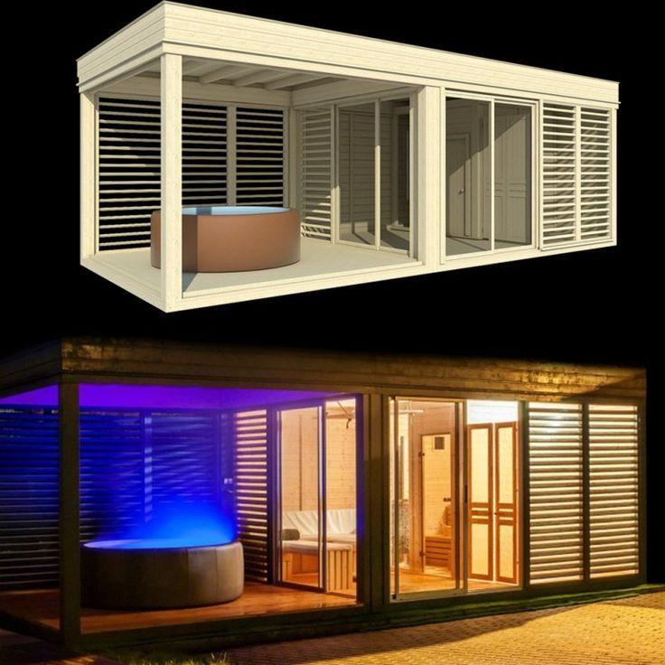 Gartenhaus Mit Sauna Modern