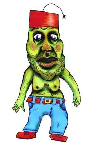 Hunkie - Illustration for Children's Storybook 2002