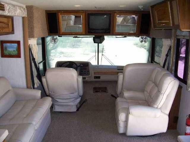 1999 Used National Tropical 6330 Class A in California CA.Recreational Vehicle, rv, 1999 National Tropical 6330, Purchased in May 2005, second owner, well maintained, totally self contained, new tires, center kitchen convention and microwave oven, rear queen bed, bathroom with shower and sink, hide-a-bed sofa, propane gas water heater, 2 TVs, roof mounted satellite antennae, 16' large patio awning, built in generator, temperature controlled duct heater, hydraulic leveling jacks, electric…