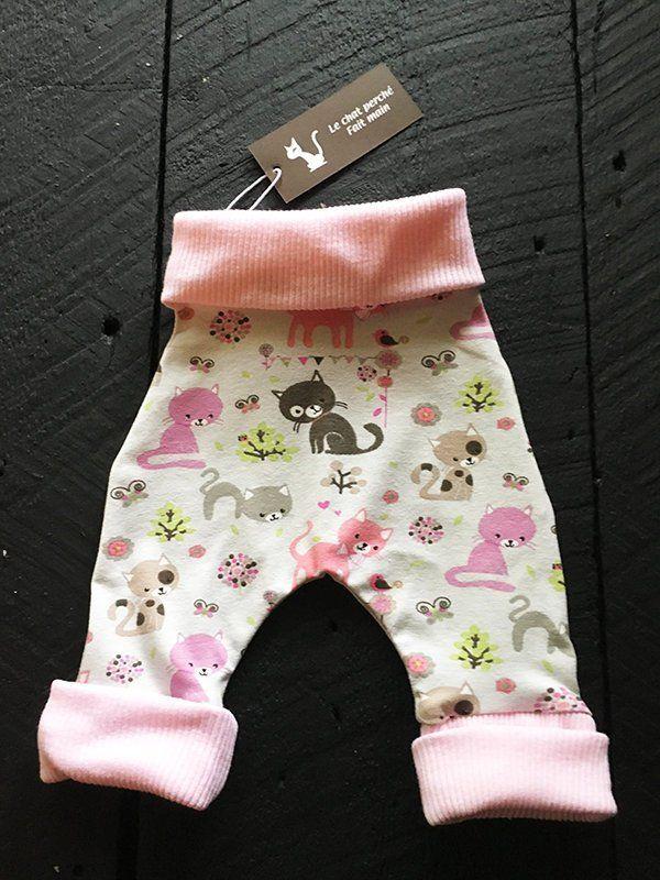 Sarouel Pantalon Evolutif En Jersey Lycra Imprime Chats Etsy Pantalon Evolutif Pantalons Roses Sarouel