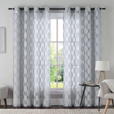 VCNY Aria 108-Inch Window Curtain Panel in Grey