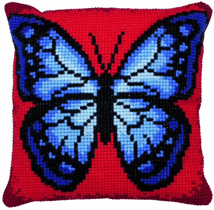Butterfly Cushion Chunky Cross Stitch Kit from Anchor only £27.50  Designed by Sheree Dean