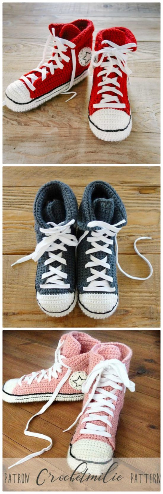Crochet Sneakers Slippers Pattern Collection