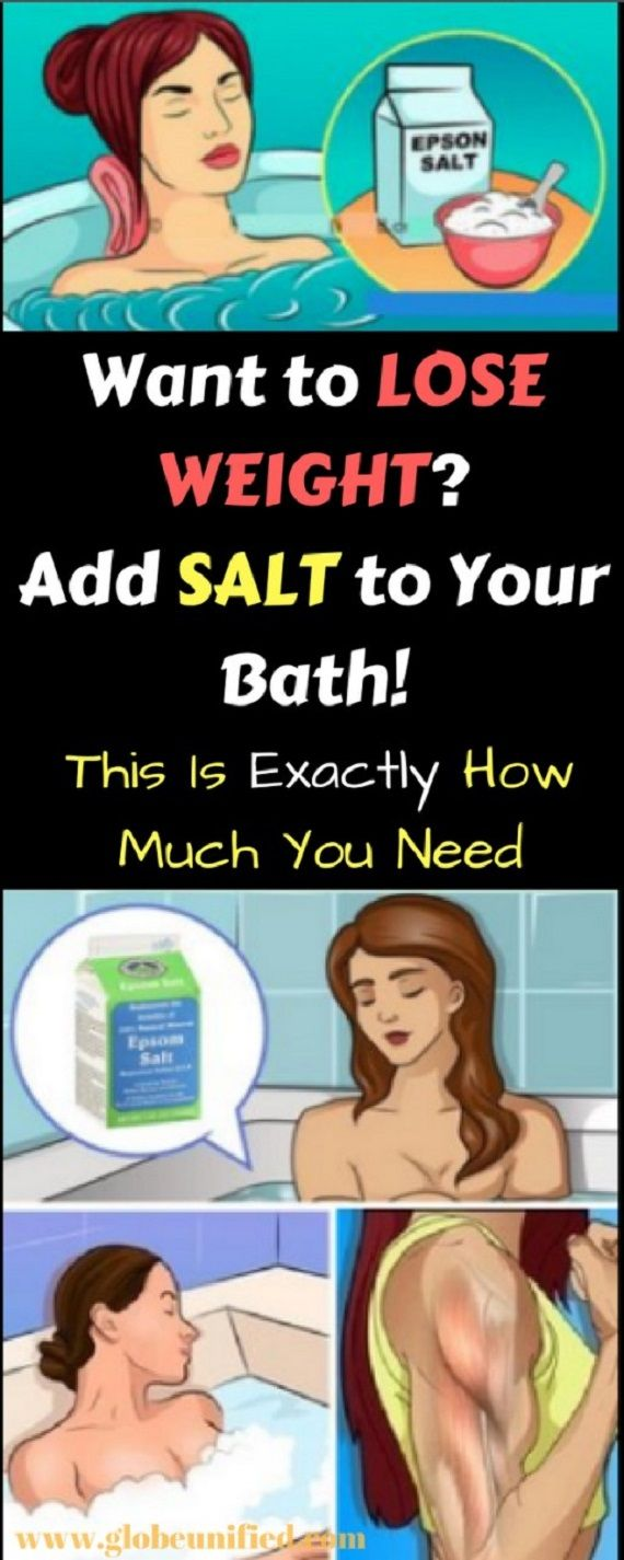 Can taking a relaxing bath really help you lose weight? #epsomsalt #weight #loss #losingweight #fit #health