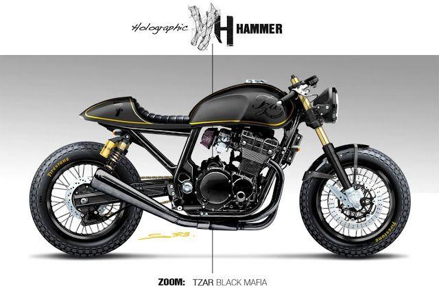 """Cafè Racer Concepts - Suzuki """"Black Mafia"""" by Holographic Hammer"""