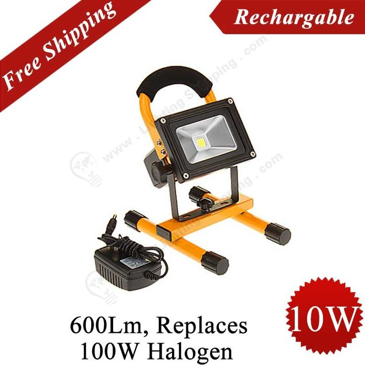 High quality #LED #Flood #Light  10W, 600Lm, AC110/220V, Rechargeable, Replaces 100W #Halogen  Click to view more >>> http://www.lightingshopping.com/10w-500-600lm-110-240v-led-flood-light-rechargeable.htmlp875312-1