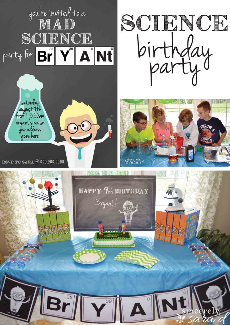 Modern mad science birthday party invitations picture collection science themed birthday party invitations choice image invitation filmwisefo