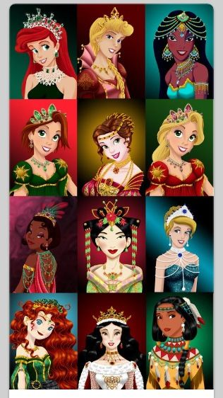 Disney princesses :jewelry : collection