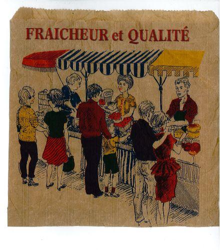 fraicheur et qualité - french market paper bag