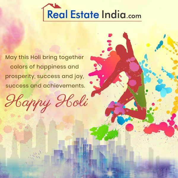 Holi is the day to strengthen the bond of friendship and add more colors to it. Enjoy the festival to its fullest! Happy Holi!  #Festival #Holi #HappyHoli #Realestateindia #Holi2018