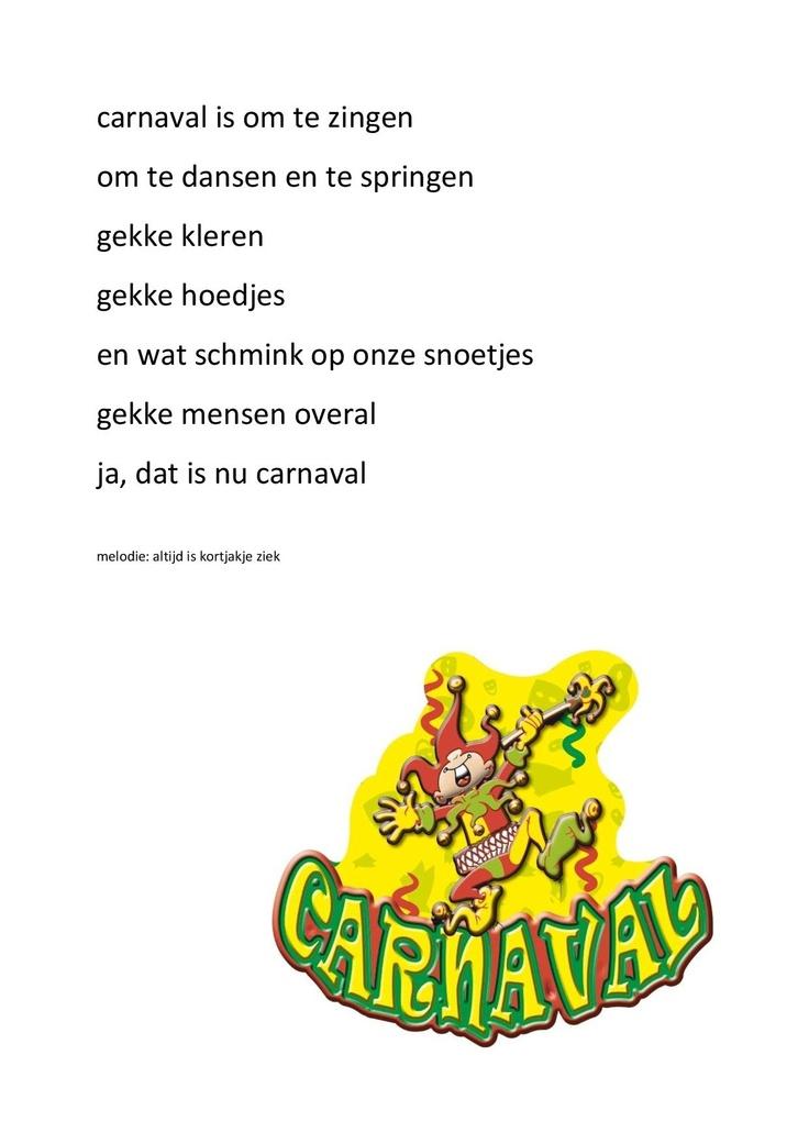 """carnavalsliedje op de melodie van """"Altijd is Kortjakje ziek"""""""