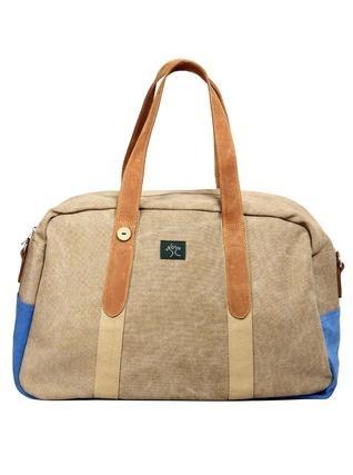 Modrá taška s koženými uchy Faguo 1