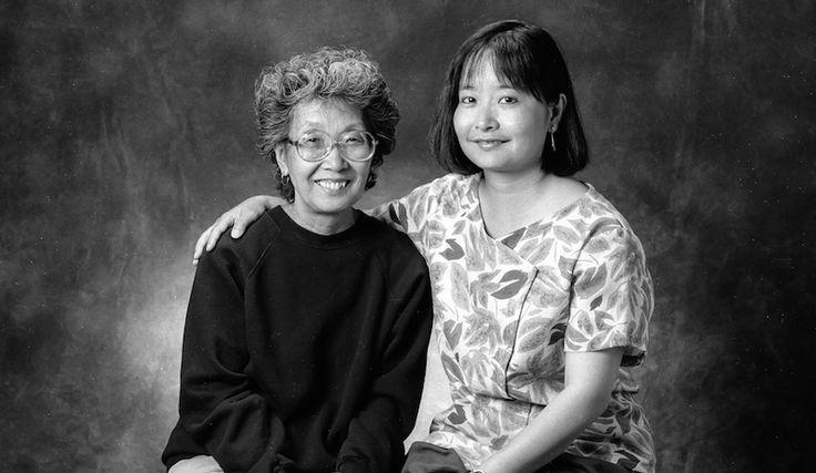 Audee Kochiyama-Holman with her mother Yuri Kochiyama.