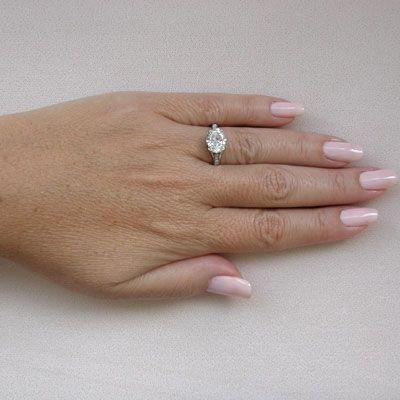 Platinum Edwardian Style 1.90ct Oval Diamond Engagement Ring