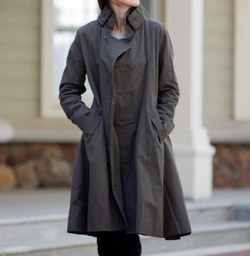 Jacket: Malieb Coats, Long Dresses, Army Green, Double Breast, Dresses Long, Dress Long, Jackets Overcoat, Coats Fall, Breast Women