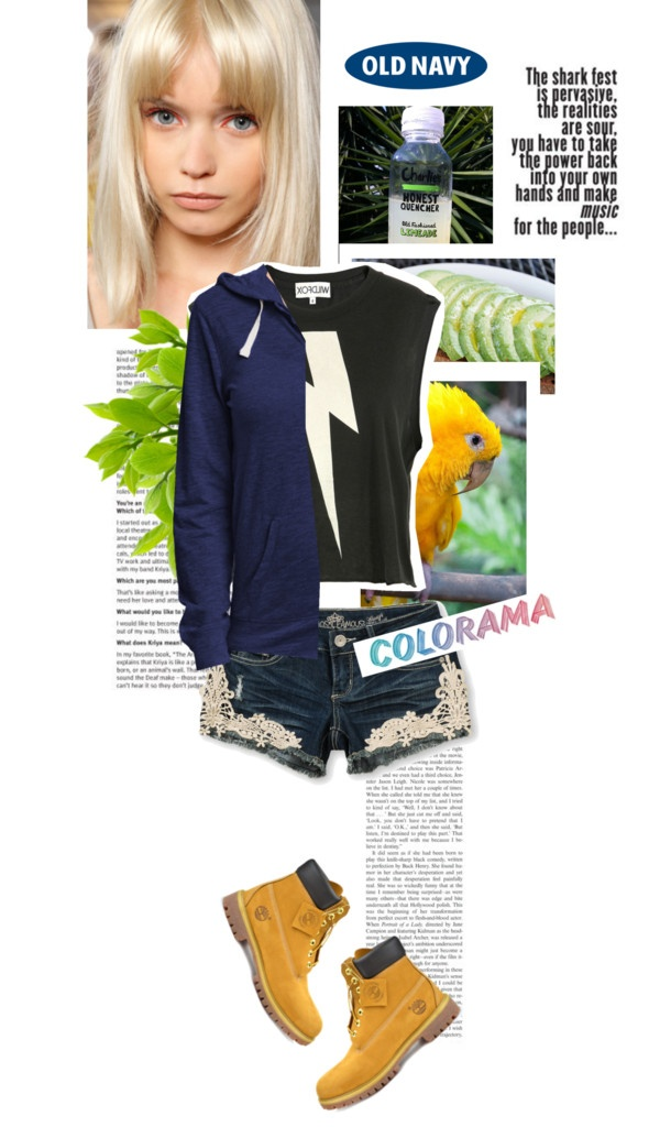 """Casually Chic with the Old Navy Tee Hoodie"" by lelezd ❤ liked on Polyvore"