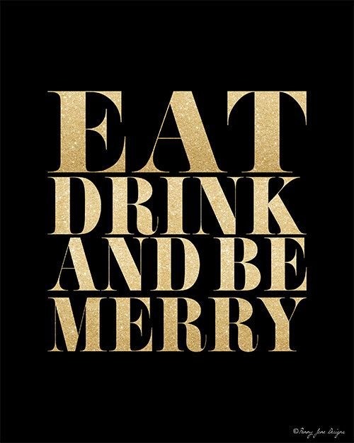 holiday printable art eat drink and be merry by