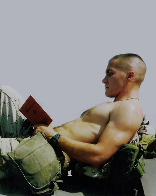 Jarhead. I love this film....not just because he spends the a lot of the movie in a semi-naked state :)