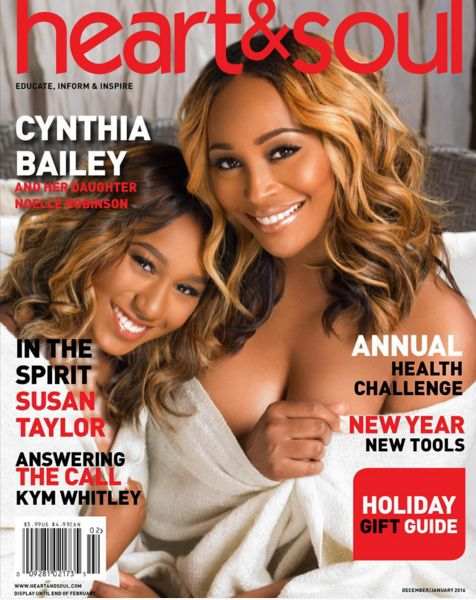 'Real Housewives of Atlanta' star Cynthia Bailey and daughter Noelle Robinson share the spotlight on January 2016 cover for 'Heart & Soul'.