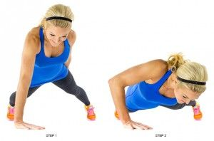 One Arm Push Up_ALL workout skinnymom brooke griffin